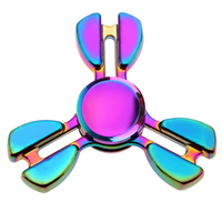 Colorful Rainbow Fidget Spinner Metal Alloy Fast Rotation EDC Hand Spinner for Autism ADD Stress Relief Focus Finger Spinner Toy