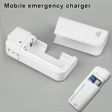 Universal Portable USB Emergency 2 AA Battery Extender Charger Power Bank Supply Box For iPhone Mobile Xiaomi MP3 MP4 White стоимость