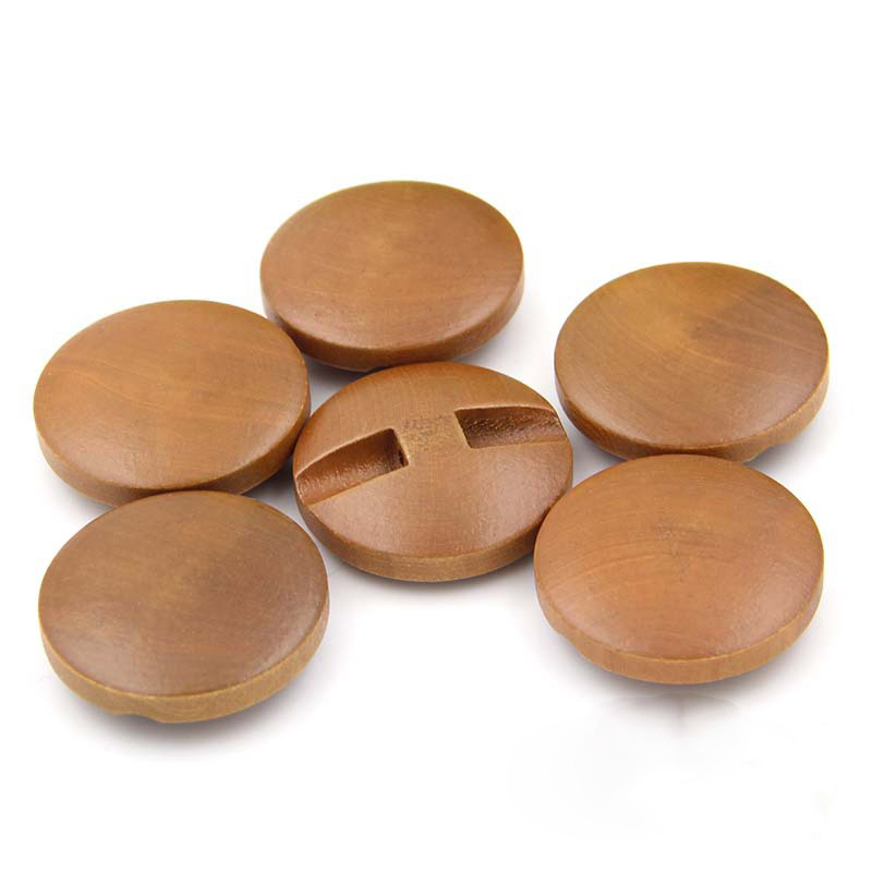Exquisite natural brown boxwood round coat Twisted buckle button 18 mm 20 mm 23 mm 25 mm 28 mm 100 pcs lot in Buttons from Home Garden