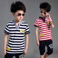 Children's clothing set 2016 child summer short-sleeve T-shirt baby child casual set