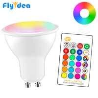 8W LED projecteur variable RGB + blanc GU10 220/110V Smart Magic vitrine éclairage décoratif Dimmable IR contrôle maison ampoule