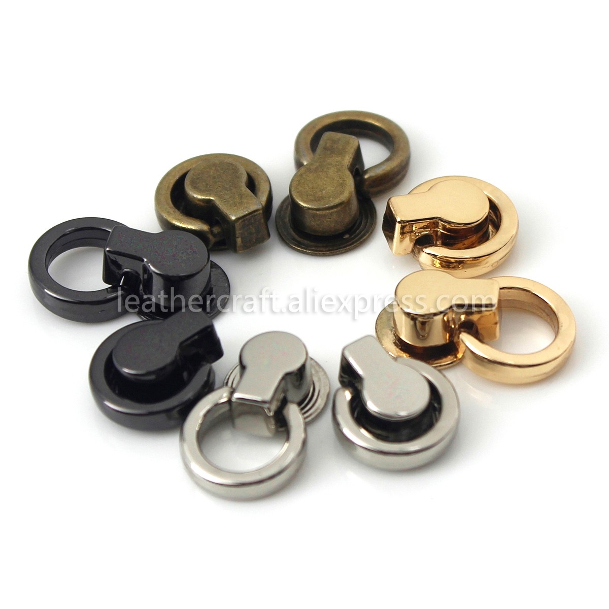 1x Metal Double-Ring Bag Hanger Gusset Clamp Buckle Clip Leather Craft Hardware