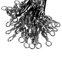 72 pcs Stainless Steel Coated Fishing Trace Lure Wire 15cm 23cm 30cm Spinner Leader Hooks Swivel Interlock Snaps