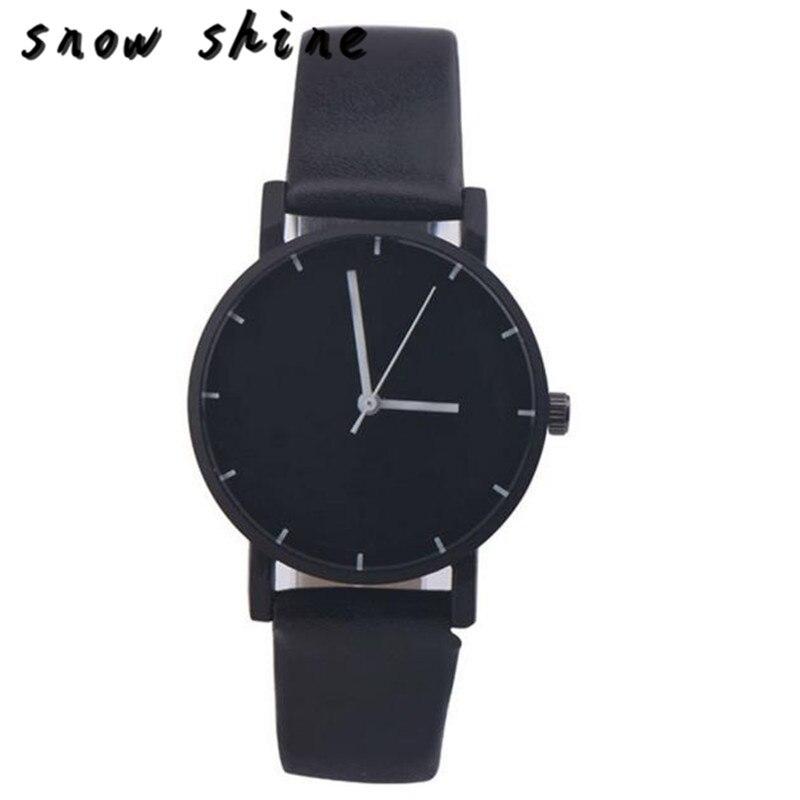 snowshine 10 Fashion Date Stainless Steel Leather Analog Quartz Wrist font b Watch b font free