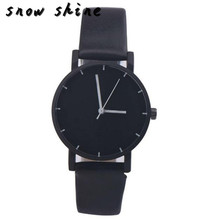 snowshine #10   Fashion Date  Stainless Steel Leather Analog Quartz Wrist Watch   free shipping