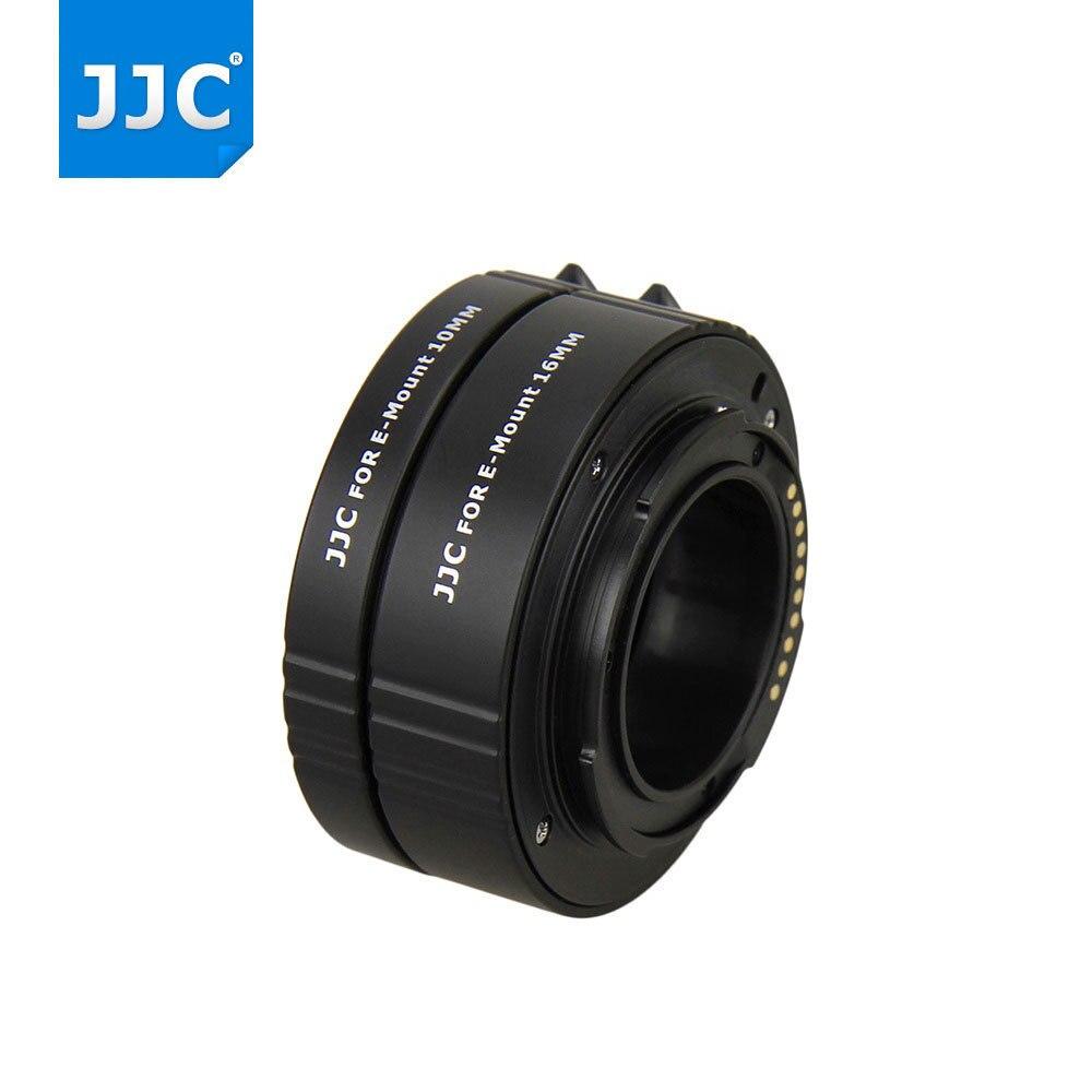 JJC caméra Auto Focus objectif adaptateur anneau 10mm 16mm définit Tube d'extension automatique pour Sony NEX e-mount A6300/A6000/A5100/NEX-7