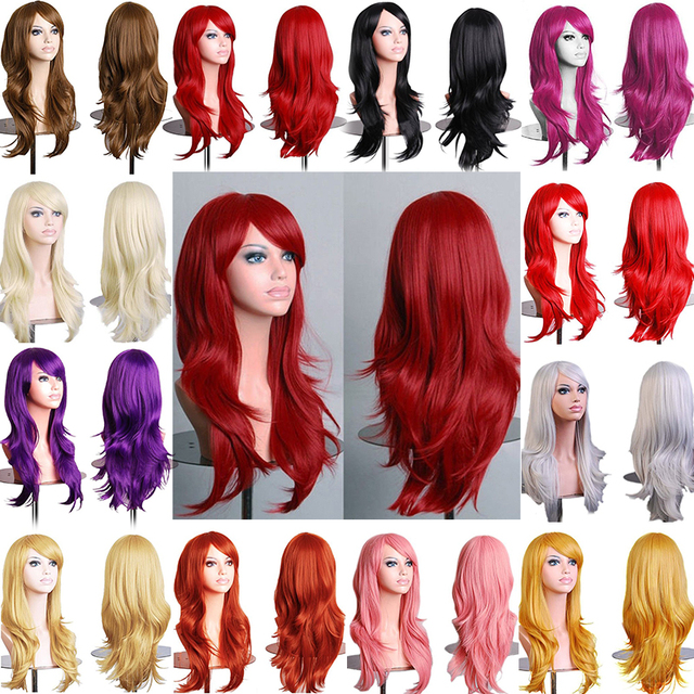 New Sensationnel 100% Synthetic Hair Wig Sexy Long Layer Wavy Full Head Wigs Cosplay Party Queen
