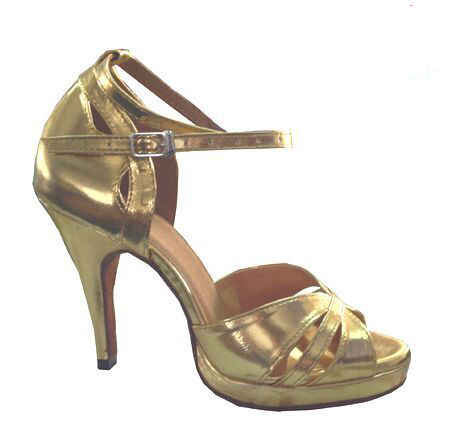 01f843382dff New Women Gold Leather Platform Salsa Samba Ballroom Tango Dance Shoes  Latin Dance Dancing Shoes ALL Size