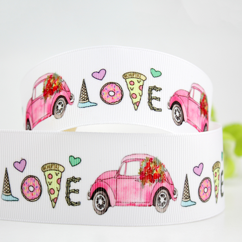 1 Metre VW Campervan Grosgrain ribbon 25mm Crafts//Party//Cake//Hair//Bows//Gift