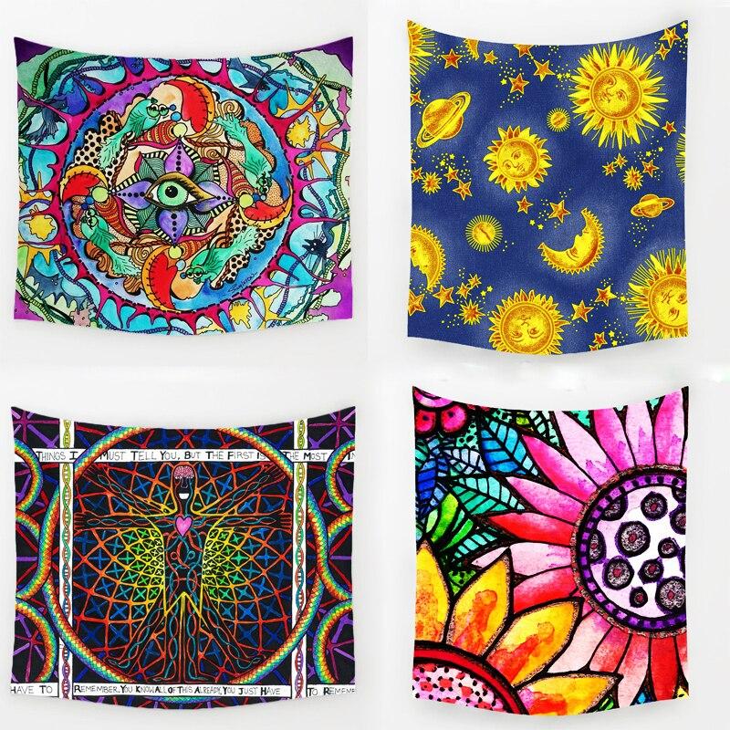 Comwarm Geometric Irregular Hippie Mandala Pattern Tapestry abstract painting Art Wall Hanging Gobelin Livingroom Decor Crafts