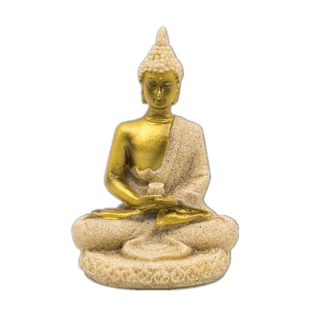 VILEAD 16 Style Buddha Statue Nature Sandstone Thailand Buddha Sculpture Hindu Fengshui Figurine Meditation Miniature Home Decor 3