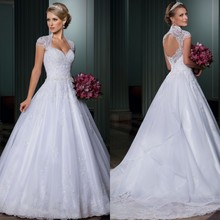 Vestido de noiva ball gown wedding dress open back sexy vestido casamento detachable tail 2015 bridal robe mariage