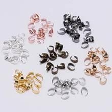 50 Uds. De Clips colgantes de 7 colores para fabricación de joyas, enganches de enganche, hebilla, Conector de abalorio, camafeo, bandeja artesanal, gancho para collar