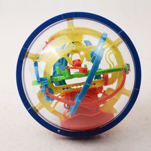 100 niveles 3D bola intelectual mágica puzle Orbit Game Balance laberinto juguetes educativos laberinto bola regalo chico(China)
