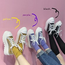 SWYIVY Women's Sneaker Platform Transparent New Platform Casual Shoes Female Stu