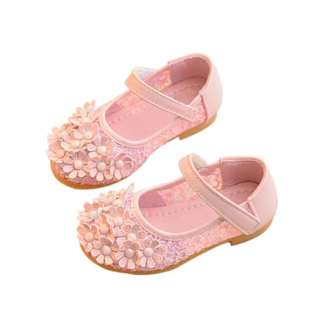 Children Shoes Girls Shoes 2017 Spring Summer Fashion Flower Princess Shoes  Flat Comfortable Breathable Girls Sandals Kids Shoes 90d489e2e498