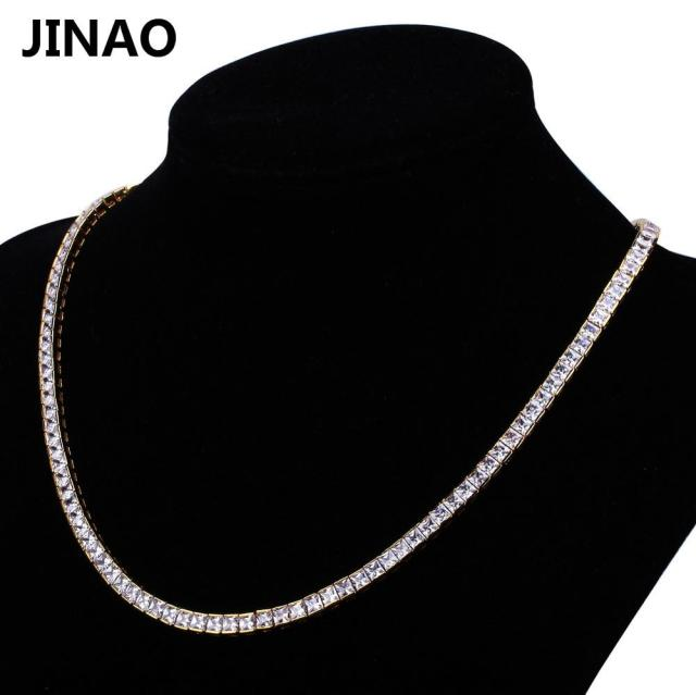 JINAO 1 Row 6mm Gold Silver...