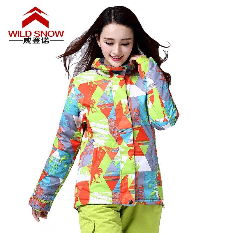 High quality Women ski Jacket Waterproof super warm Skiing snow jacket female winter snowboard ski clothing with Hooded S/XXL недорого