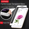 LEPHEE XIAOMI MAX Tempered Glass Screen Protector Full 3D Carbon Fiber Soft Edge Safety Protective Film on Mi Max M Max 6.44inch
