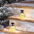 Открытый Солнечный Портативный стеклянный шар с трещинами светодиодные лампы фонари работающие на солнечной энергии небольшая люстра укр...