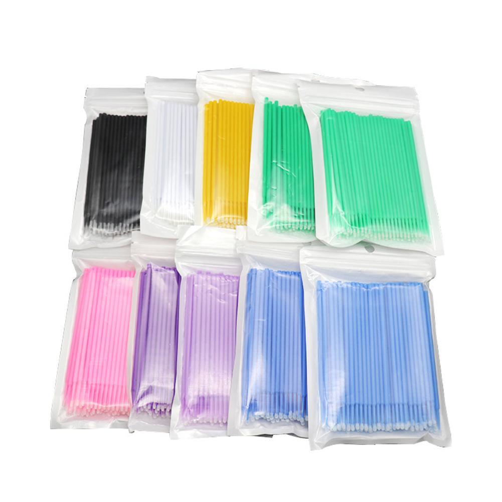 2019 New 100Pcs/1 Pack Disposable Plastic Makeup Brushes Swab Microbrushes Eyelash Extension Lint Free Tool Applicators Mascara