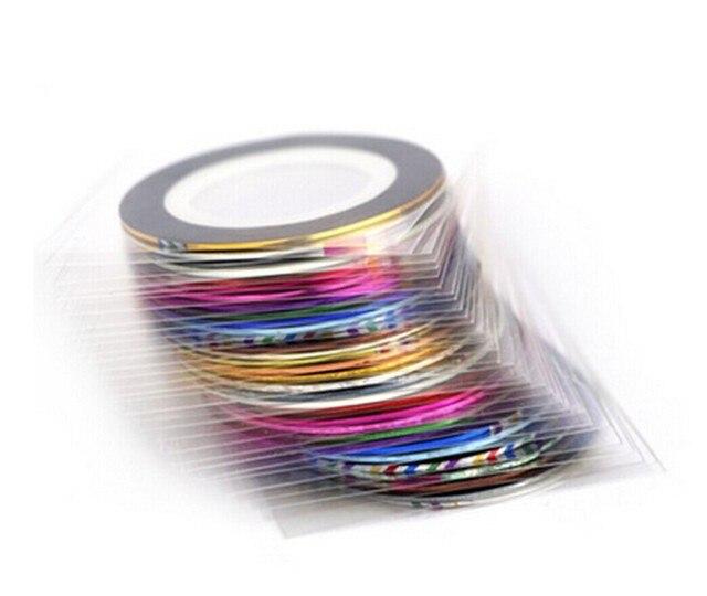 39 Цвета 1 Rolls Лазерная Золото Серебро Блеск Чередование Ленты Линия Nail Art Советы Наклейки Красоты Украшения для DIY