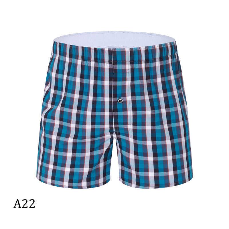 Kualitas Tinggi Katun Celana Boxer Nyaman Longgar Pakaian Dalam Pria Plaid Cueca Masculina Cuecas Petinju De Marca 5 Pcs/lot