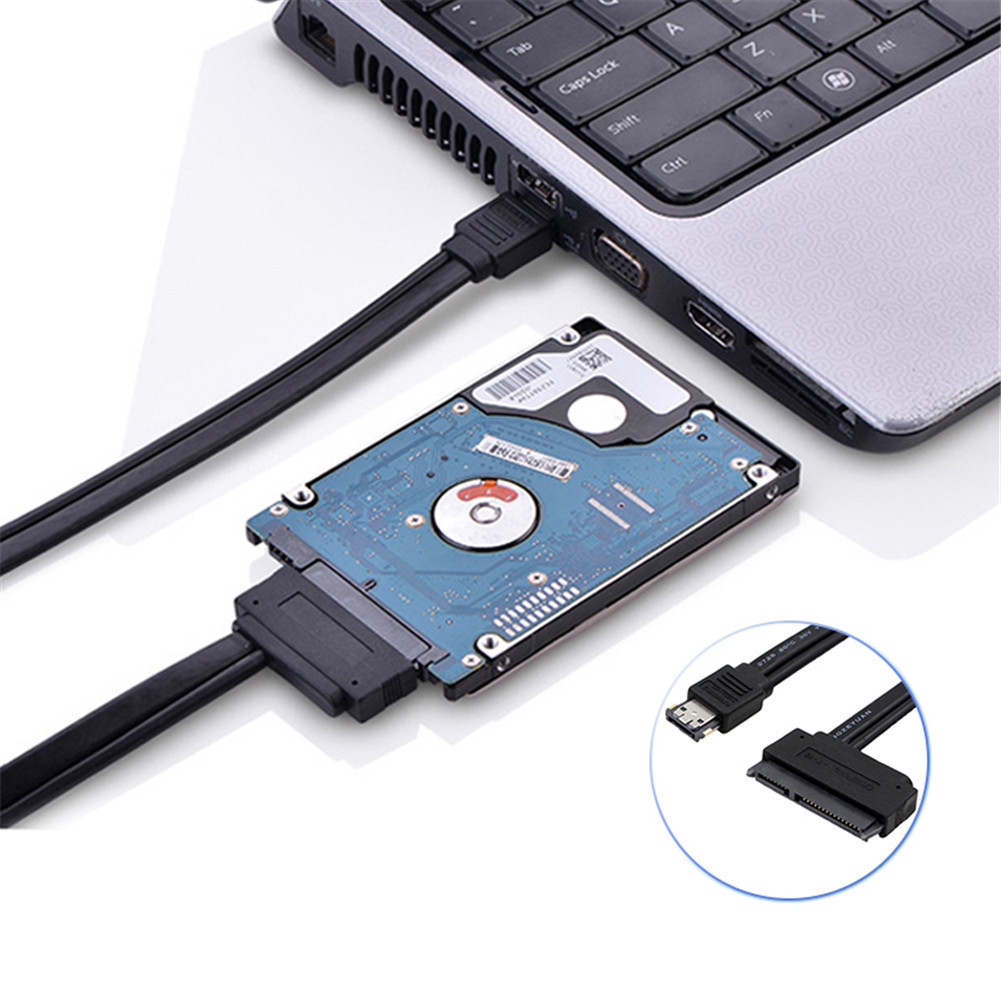 0.5 M SATA to Power ESATA USB 2-in-1 Data Cable Hard Disk Cable 22 Pin SATA Connecting Line for 2.5 3.5 inch HDD Adapter Cable e sata esata e sata male to male m m extension data sync cable line for external portable hard drive hdd 50cm
