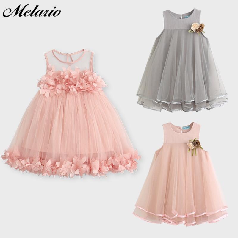 Melario Girls Dresses 2019 Söt Prinsessans Klänning Barn Barn - Barnkläder - Foto 2