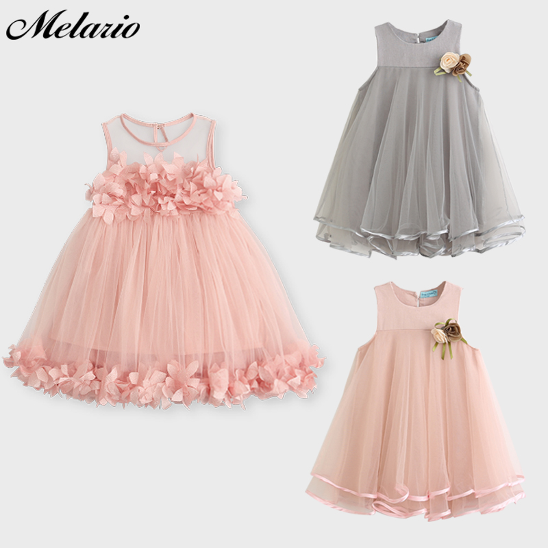Melario Κορίτσια Φορέματα 2019 Γλυκό - Παιδικά ενδύματα - Φωτογραφία 2