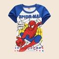 2016 del estilo del verano muchachos de las muchachas camisetas Spider Man niños de impresión bebé blusa próximos niños ropa algodón de dibujos animados camisetas cosas fresco