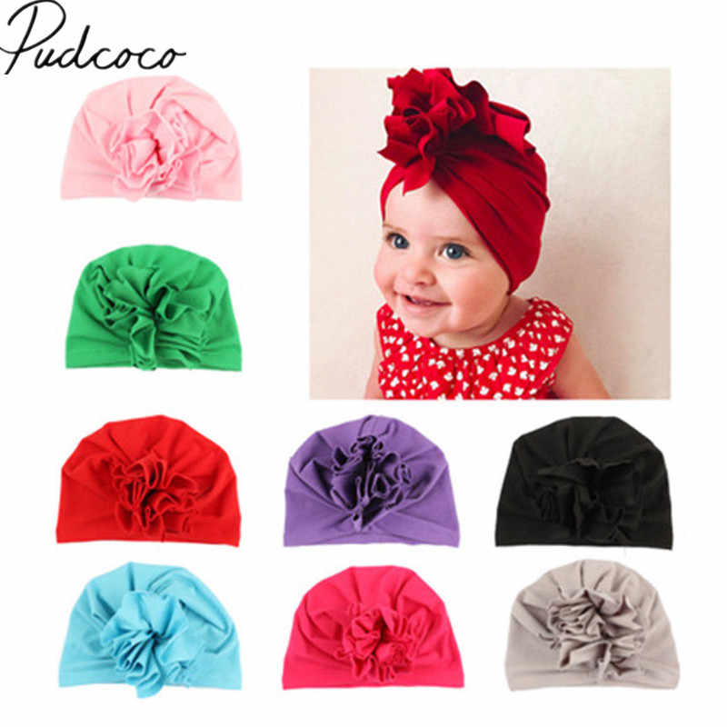 5fcad6423be 2018 Brand New Cute Baby Newborn Girl Infant Toddler Bowknot Beanie Warm Hat  Hospital Cap Comfy