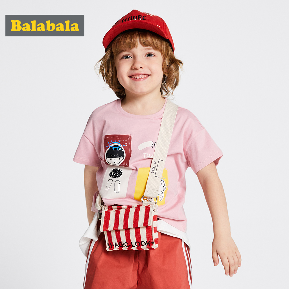 T-Shirt Balabalachildren Short-Sleeve Girl Baby Boys Cotton Summer New Fashion