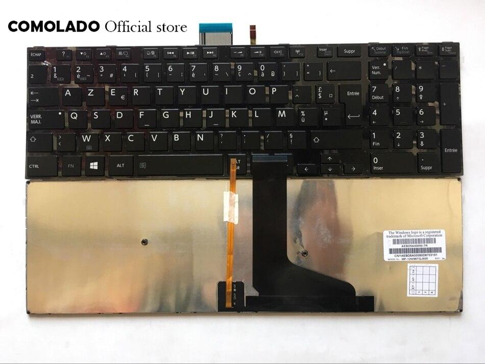 FR Français Clavier Pour Toshiba C70-A U50 M50 L50 L70 S50 S55 S70 S75 Rétro-Éclairé avec cadre Clavier FR Disposition