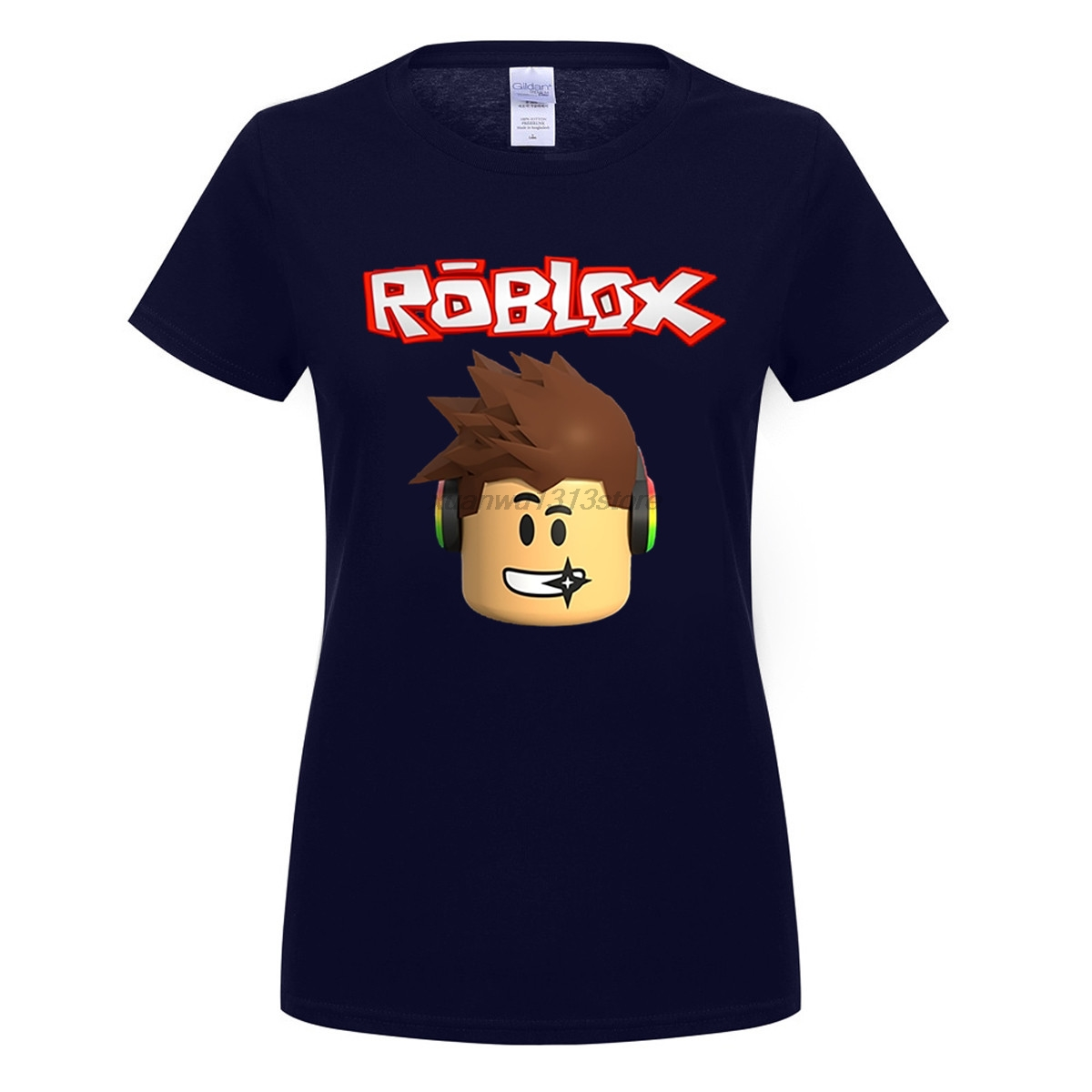 gildan roblox character head adult t shirt cool normal loose t shirt women short sleeve tshirt teenage personality tee shirt in t shirts from womens