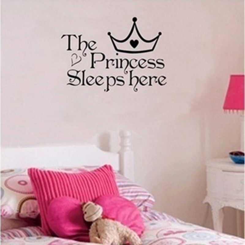 Words Bedroom Decoration Girls personalised princess name wall art Décor