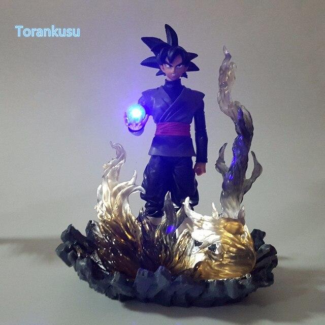 Dragon Ball Z Action Figure Goku Black Zamasu Zamas Led Light DIY Display Toy