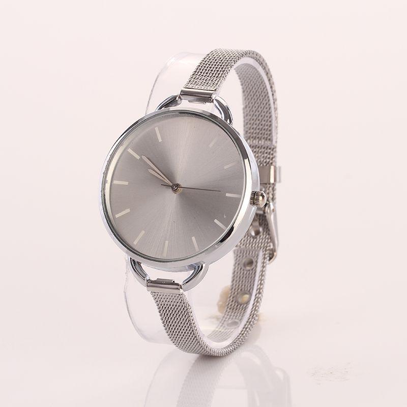 Luxury Gold Silver Bracelet Watch Women Fashion Mesh Band Clock Girl Dress Quartz Wristwatch Womens Reloj Relogio Feminino