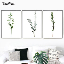 TAAWAA Black And White Tree Leaves Poster Simple Wall Art Nordic Style Prints Painting Picture for Living Room Home Decoration