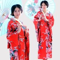 New Classic Traditional Japanese Kimono Women Yukata With Obi Stage Performance Dance National Costumes One Size 16