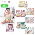 Baby New Born Bib Waterproof Strap Colorful and Lovely Toddler Burp Cloth for Girl Boy Child Toddler Flower Bear Deer