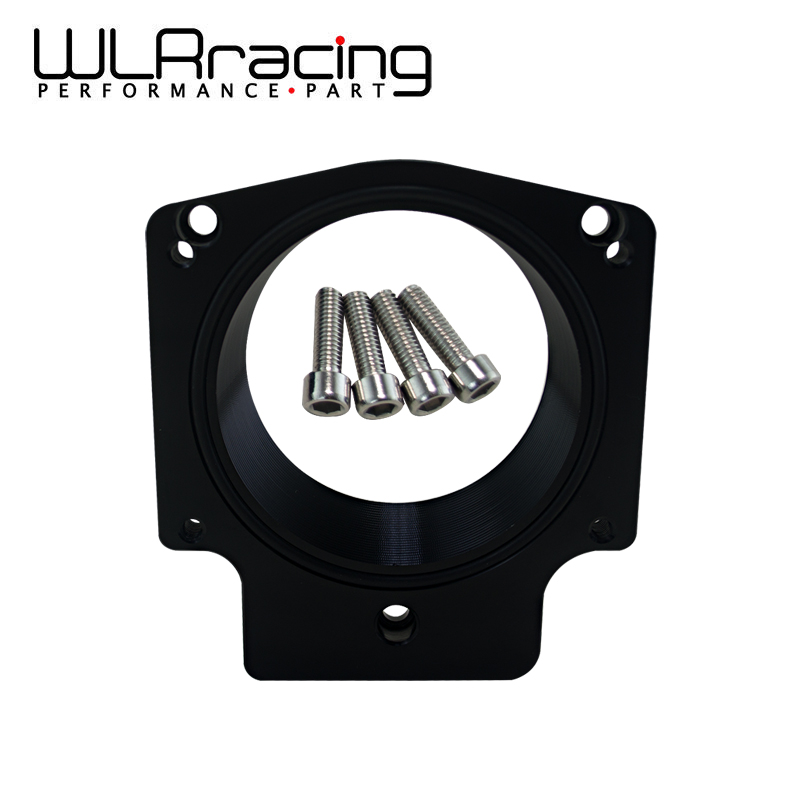 WLR RACING - Manifold Adapter Plate for 92MM THROTTLE BODY FOR G M GEN III LS1 LS2 LS6 LSX LS4 Black WLR-TBS41