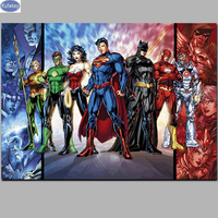 Bead Embroidery Diamond Movie Art Cartoon DC Comics Diamond Painting Full Diamond Mosaic Picture Of Rhinestones