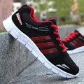 Homens respirável Sapatos Casuais Lace Up Mens Formadores Cesta Femme Zapatillas Hombre Luz Plana Sapatos de Caminhada Esporte Confortável Macio