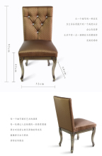 Metal Upholstery leisure dining chair,heavy duty fabric with high rub resistance,comfortable seat,Knock down design