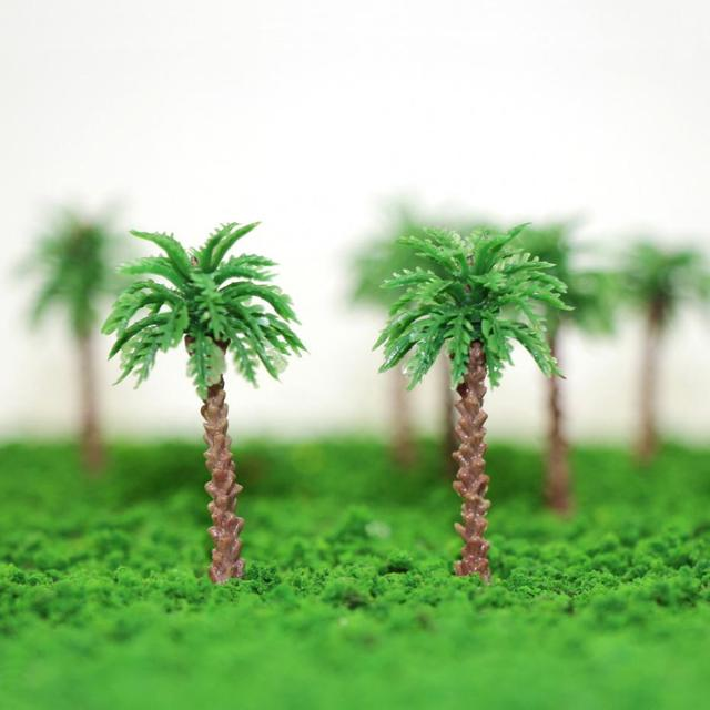 YS02 20pcs 45mm-170mm Height Model Palm Trees Model Layout Train Scale 1:400-1:50 Z HO Scale NEW 4