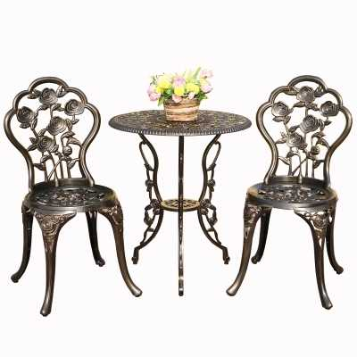 балкон двор из литого алюминия столы и стулья для отдыха на открытом воздухе столы и стулья сочетание двора сад комплект стул и стол