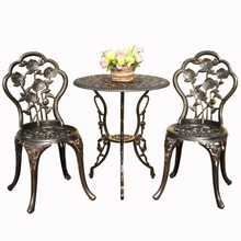 Balcony yard cast aluminum tables and chairs outdoor leisure tables and chairs combination courtyard garden chair table set creative wicker chair ourdoor rattan desk table chairs balcony outdoor furniture combination leisure chairs coffee table set