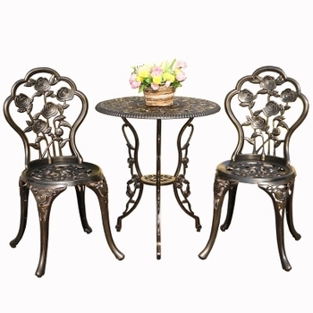 Balcony yard cast aluminum tables and chairs outdoor leisure tables and chairs combination courtyard garden chair table set