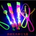 12 шт. голубой световой НЛО летающие slingshot катапульта стрелка летающий стрелка игрушки